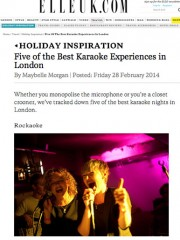 ELLE UK – 5 of the Best Karaoke Experiences in London