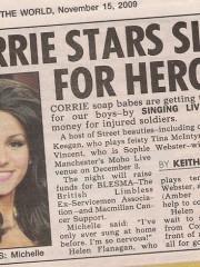 Corrie stars sing for heroes
